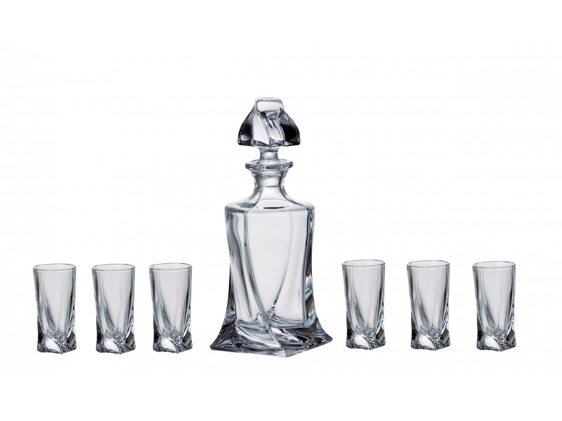 Likér set 1+6 dekorovaný STAR 500+50 ml